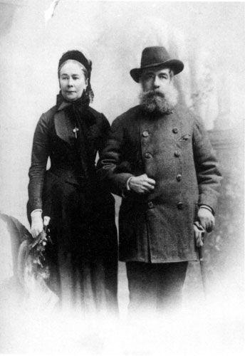 Emeryk Hutten-Czapski wraz z żoną Elżbietą, Kraków, 1895-1896