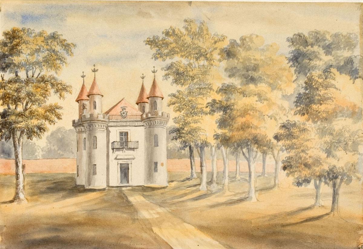 Skarbczyk-stańkowski---miejsce-przechowywani-części-biblioteki-Czapskiego,-1876-r.,-aut.-Napoleon-Orda,-akwarela_web