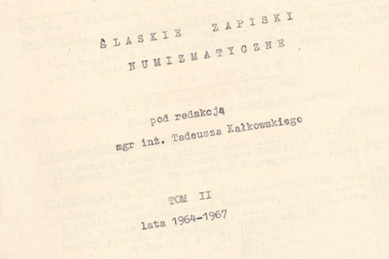 Śląskie Zapiski Numizmatyczne