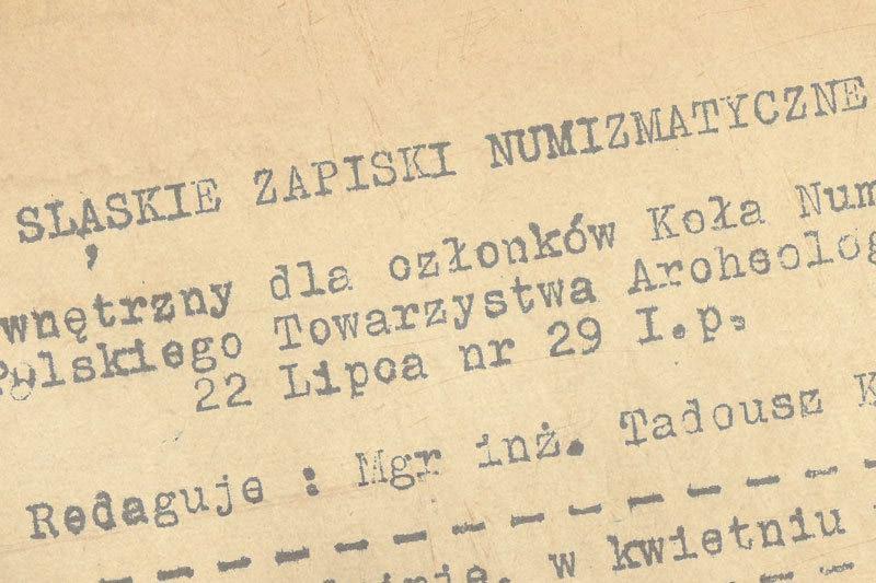 Archiwum - Śląskie Zapiski Numizmatyczne