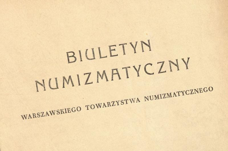 Biuletyn Numizmatyczny WTN